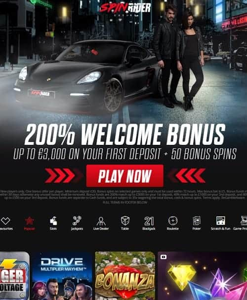 SpinRider Casino free bonus
