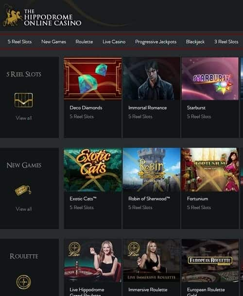Hippodrome Online Casino free spins