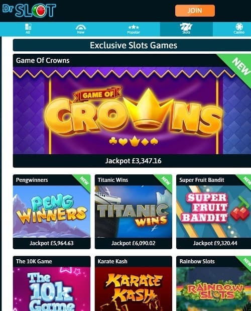 Dr Slot Casino free bonus