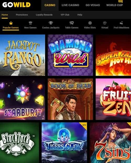GoWild Casino Review | 50 free spins and $/€1033 welcome bonus