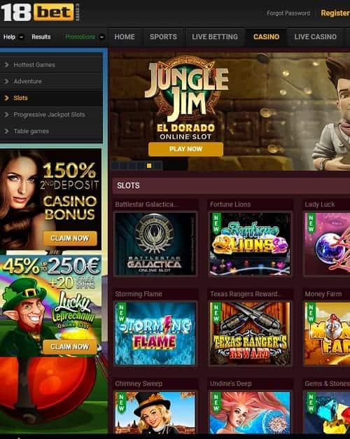 18 bet casino free bonus