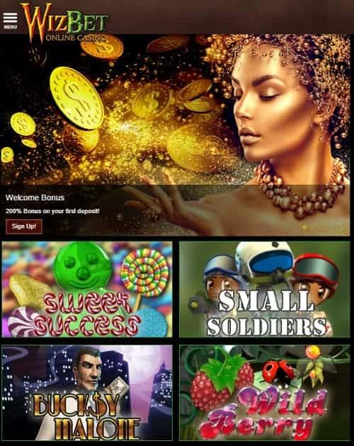Wizbet Casino USA free bonus code