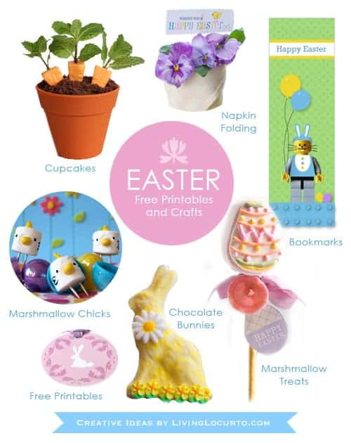 Our favorite Easter recipes, crafts, easy spring desserts, free printables and edible craft ideas.