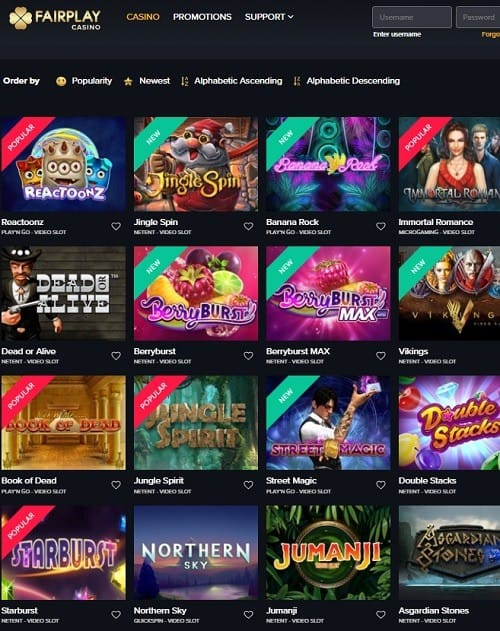 Fairplay Casino Review