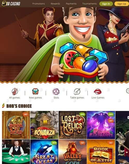 bobcasino.com review