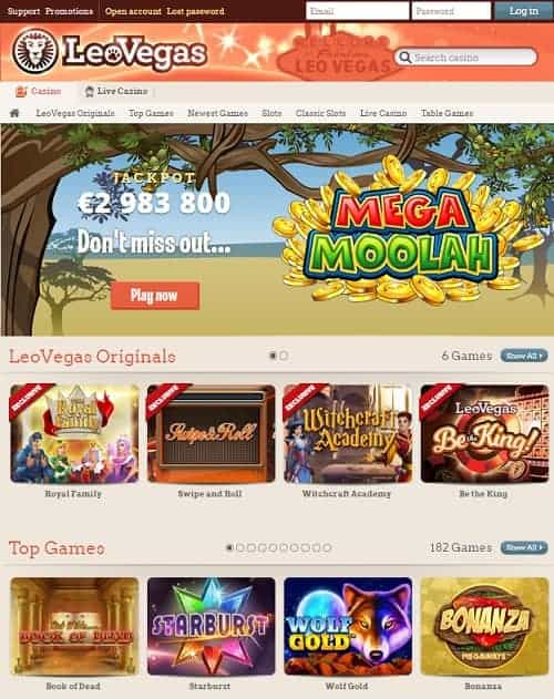 Leo Vegas free spins game
