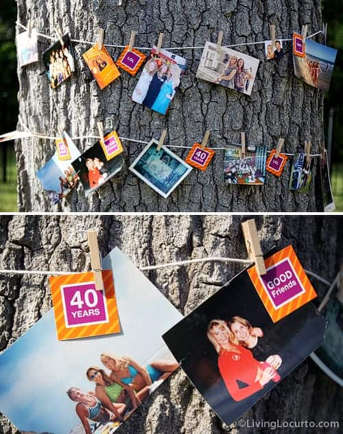 40th Birthday Party Ideas! Beautiful outdoor party ideas and printables. LivingLocurto.com