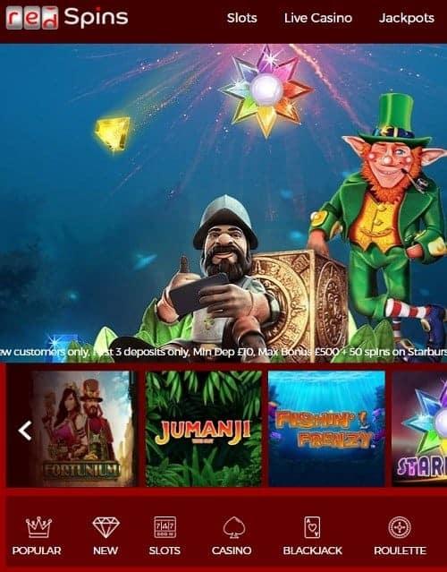 Redspins.com Casino Free Bonus