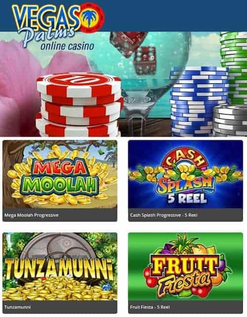 Vegas Palms Casino Review: 100 free spins plus 200% welcome bonus