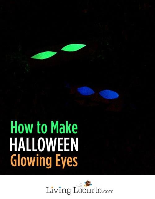 How to Make Glowing Eyes - Easy Halloween Haunted Decor! LivingLocurto.com #glowinthedark #halloween #craft