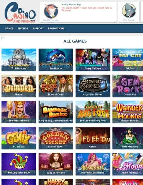 Casino And Friends Review | 10 free spins NDB + 100% welcome bonus
