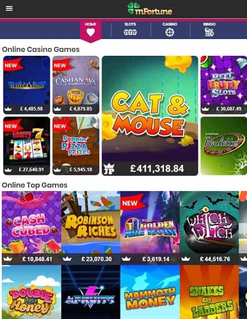 mFortune Mobile online games