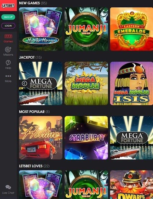 Letsbet Casino free spins bonus