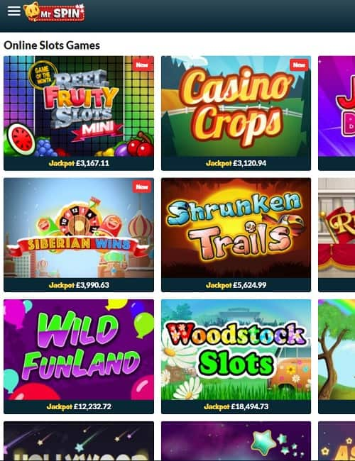 Mr Spin Casino free bonus