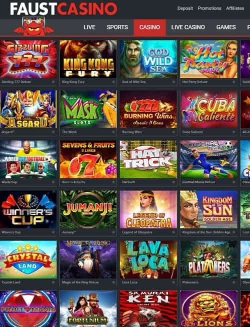 Faust Casino Review
