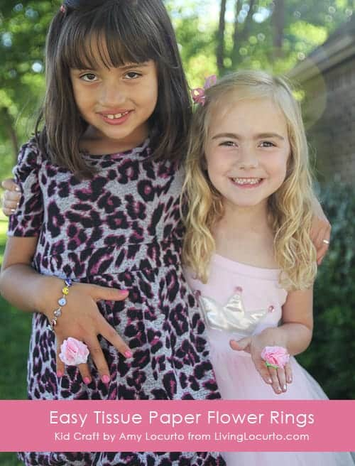 Easy Tissue Paper Ring Craft for Kids by Amy Locurto | Living Locurto Summer Craft Ideas