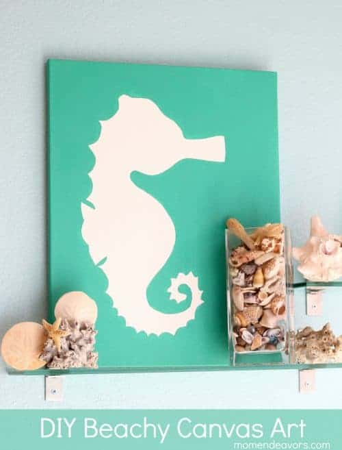 DIY Beach art from Mom Endeavors  - Home and Garden DIY Ideas for Living Creative Thursday on LivingLocurto.com