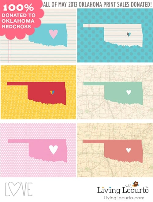 Please Help Oklahoma - 100% of Print Sales during May will be donated to Red Cross by Amy at LivingLocurto.com