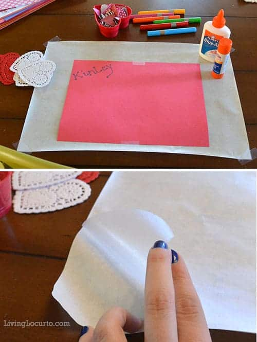 Cute DIY Placemats! Easy Valentines Day Paper Craft for Kids. LivingLocurto.com
