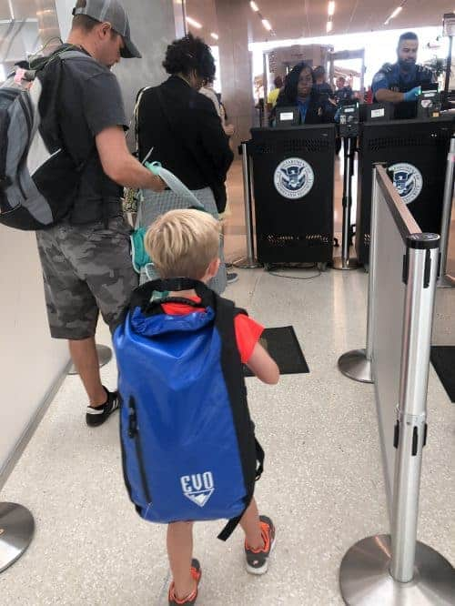 traveling early with kids
