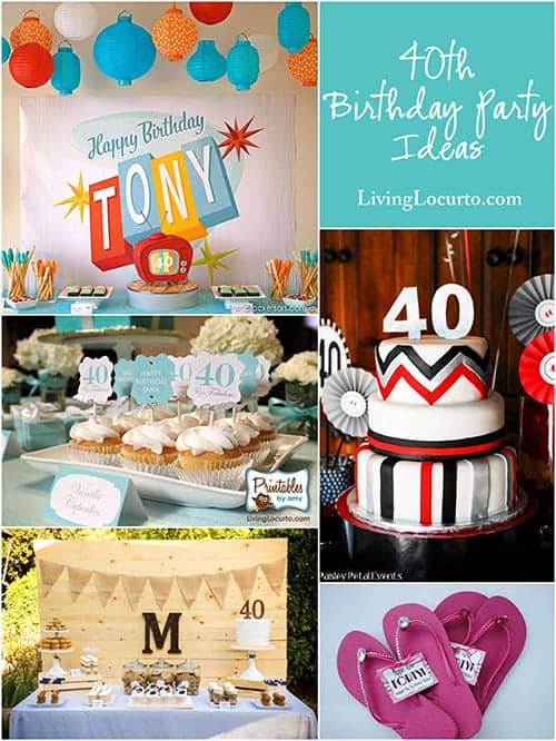 10 Amazing 40th Birthday Party Ideas. The most amazing hip, bright and fun party ideas to make you look forward to turning 40! Fun 40th Birthday party ideas for men and women.