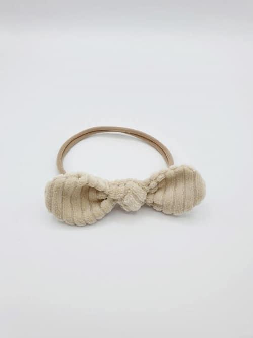 Haarband ecru corduroy strik