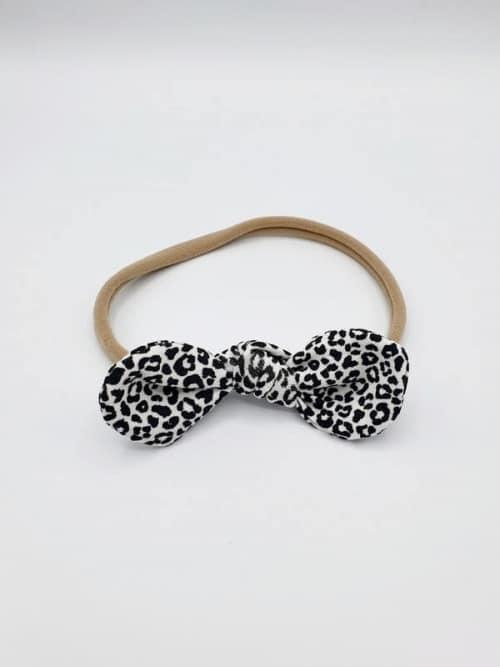 Haarband tricot monochrome leopard strik