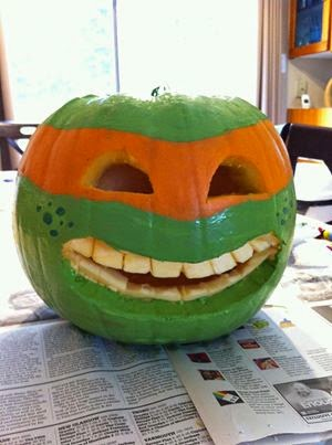 A Teenage Mutant Ninja Turtle Pumpkin could save the day!