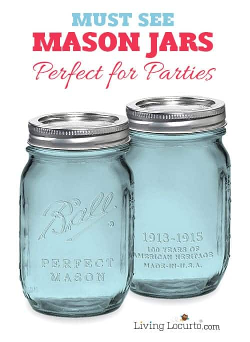 Must See Mason Jars! Fun Party and Gift Ideas using jars. LivingLocurto.com