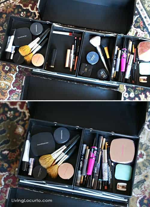 Make-Up Organizer - Great Organizing Ideas for your Bathroom! Cabinet Bathroom Organization Makeover - Before and After photos. LivingLocurto.com