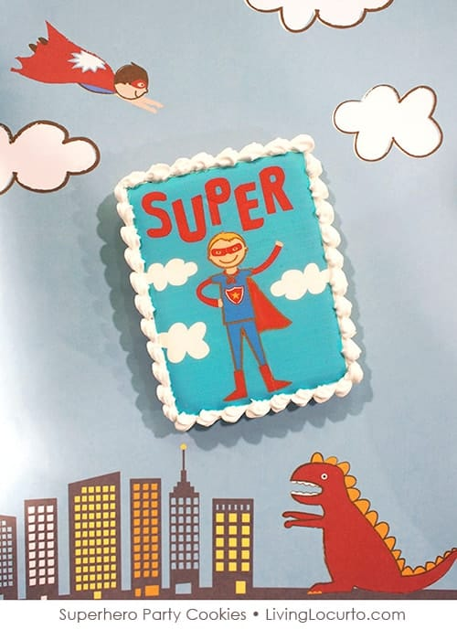 Superhero Party Cookies by Sweetopia for LivingLocurto.com