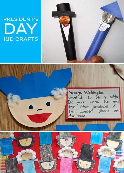 Help kids learn about American history with these fun President's Day Kid Craft Ideas.