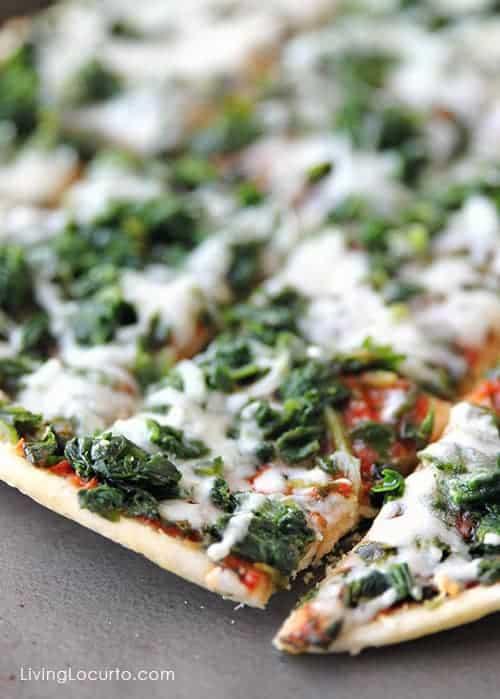 Spinach Ristorante Pizza - Posh Football Party Ideas and Free Printables. LivingLocurto.com