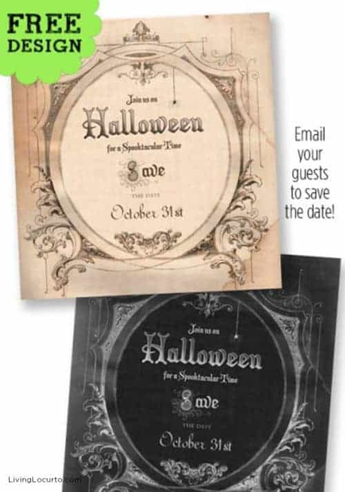 Halloween Party - Save the Date Free Invitation