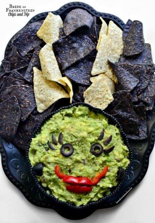 15 Halloween Party Appetizer Recipes - Bride of Frankenstein Dip