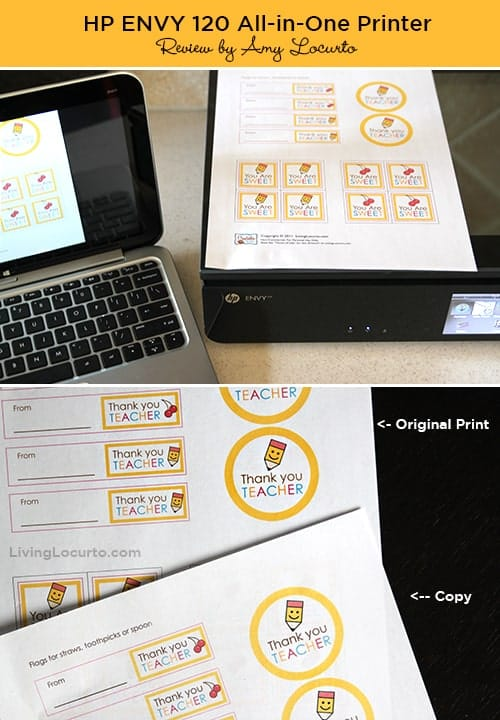 Trying out the new HP Envy 120 Printer & Free Printables. Review by LivingLocurto.com
