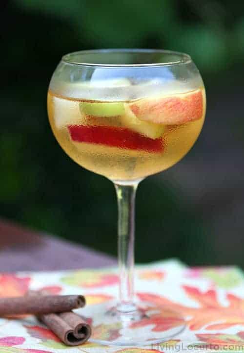 Fall Sangria Recipe in Wine Glass