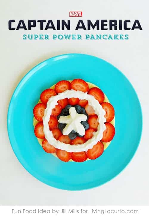 Captain America Shield Fruit Pancakes Recipe at LivingLocurto.com