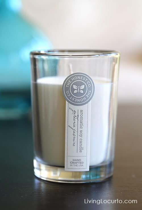 The Honest Company Soy Candle | $50 Gift Certificate Giveaway at LivingLocurto.com