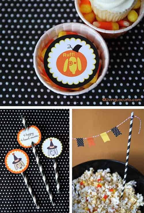 Dog Themed Halloween Party Printables by Amy Locurto at LivingLocurto.com