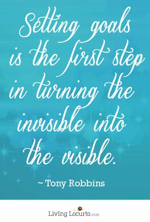 Wonderful Setting Goals Quote by Tony Robbins