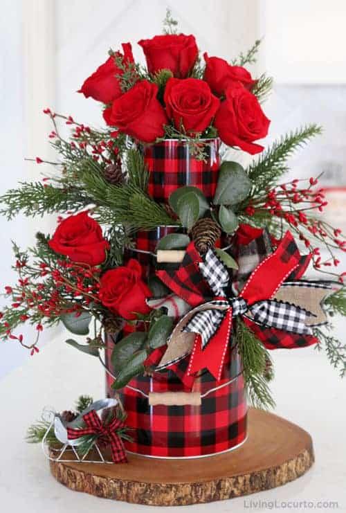 Buffalo Check Valentine Centerpiece