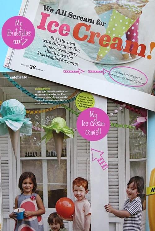 Ice Cream Party Ideas {Parents Magazine Feature} LivingLocurto.com