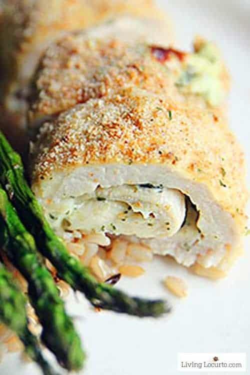 Low Carb Baked Chicken Pesto Rolls Recipe. Easy dinner idea