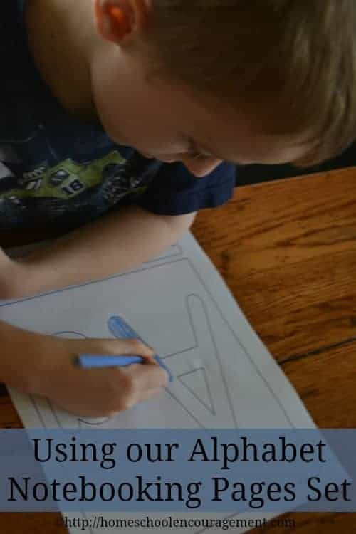 Alphabet Notebooking Pages -- Homeschooling gets a jumpstart with these notebooking pages. Here's how we use them in our homeschool.