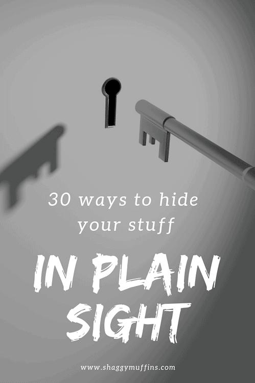 30 ways to hide your stuff