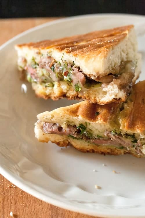 Chimichurri Steak Panini Sandwich
