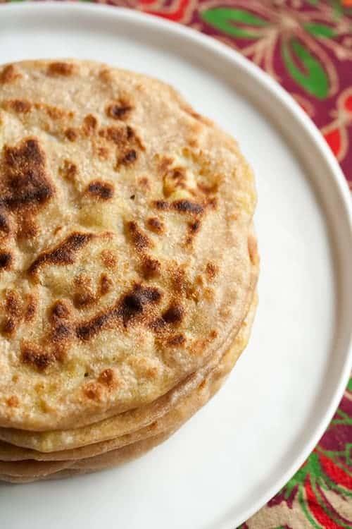Aloo Parathas (Potato Stuffed Flatbreads)