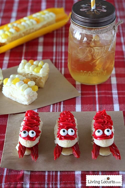 Crawfish and Corn on the Cob Cupcakes! Fun food dessert party idea for a crawfish boil. Youtube video tutorial. LivingLocurto.com
