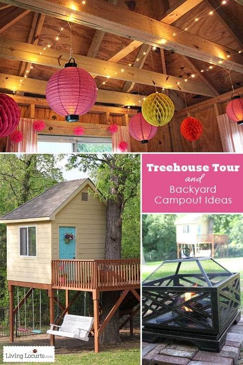 Tree House Tour and Backyard Campout Ideas. LivingLocurto.com